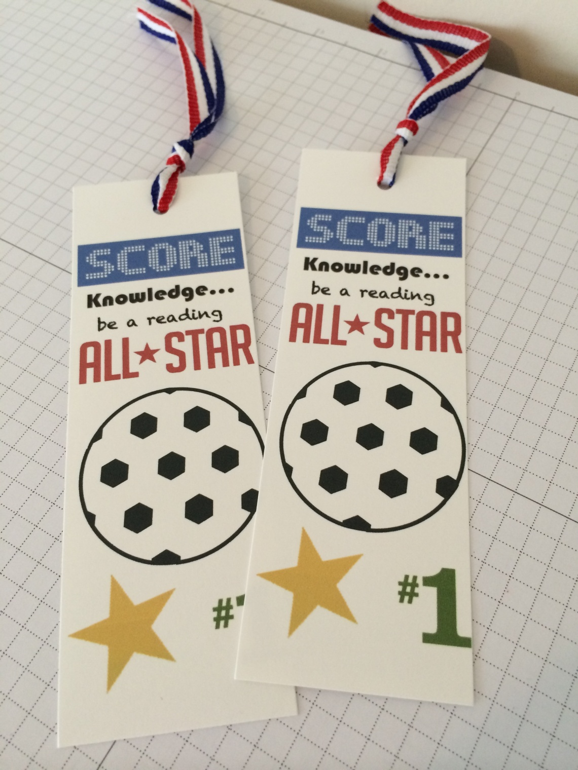 Soccer Bookmarks made with MDS